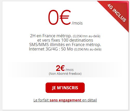 Free Mobile 2 euro