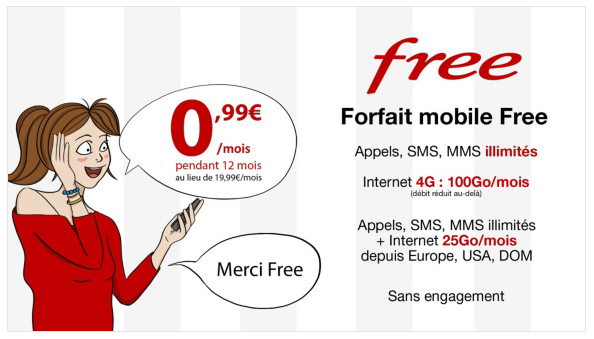Free Mobile forfait in offerta