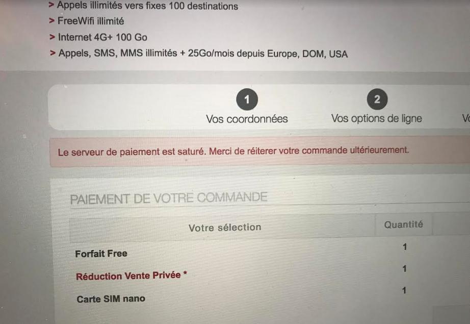 Sistema pagamento in tilt Vente Privée
