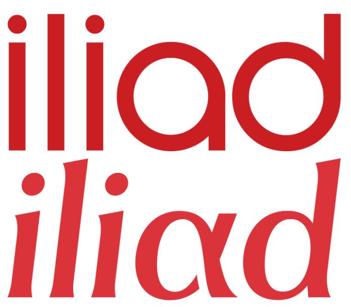 Nuovo e vecchio logo Iliad