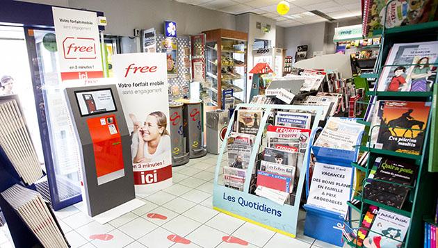 Distributori automatici SIM Free Mobile