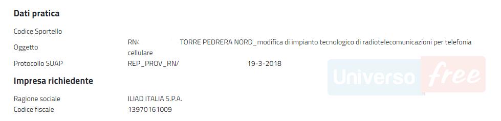 Impianto Iliad Rimini 19032018