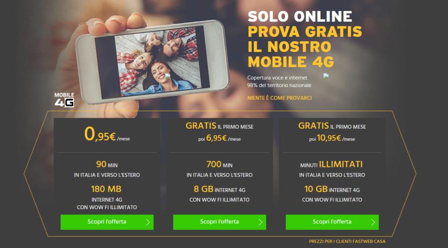 Nuova offerta Fastweb Mobile