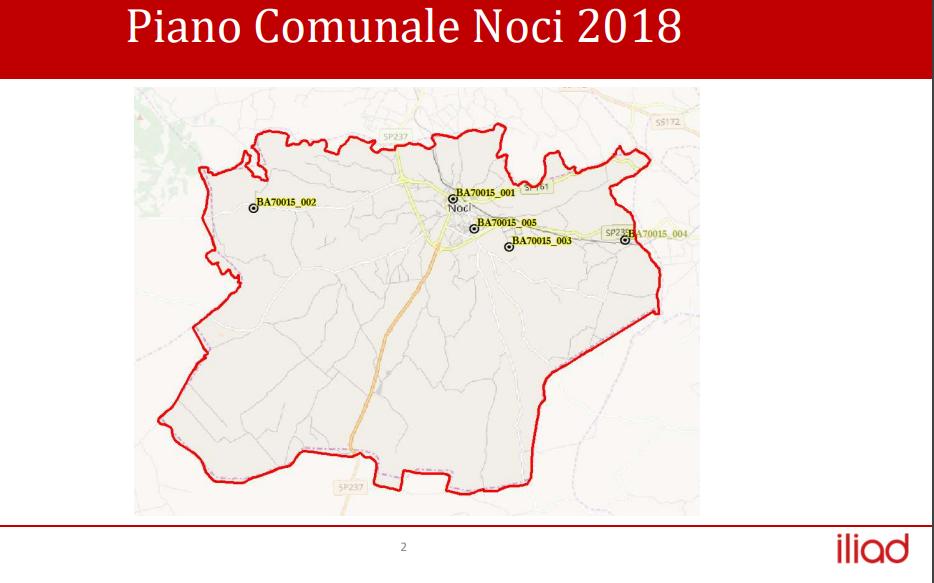 Piano comunale Noci - Iliad 2018