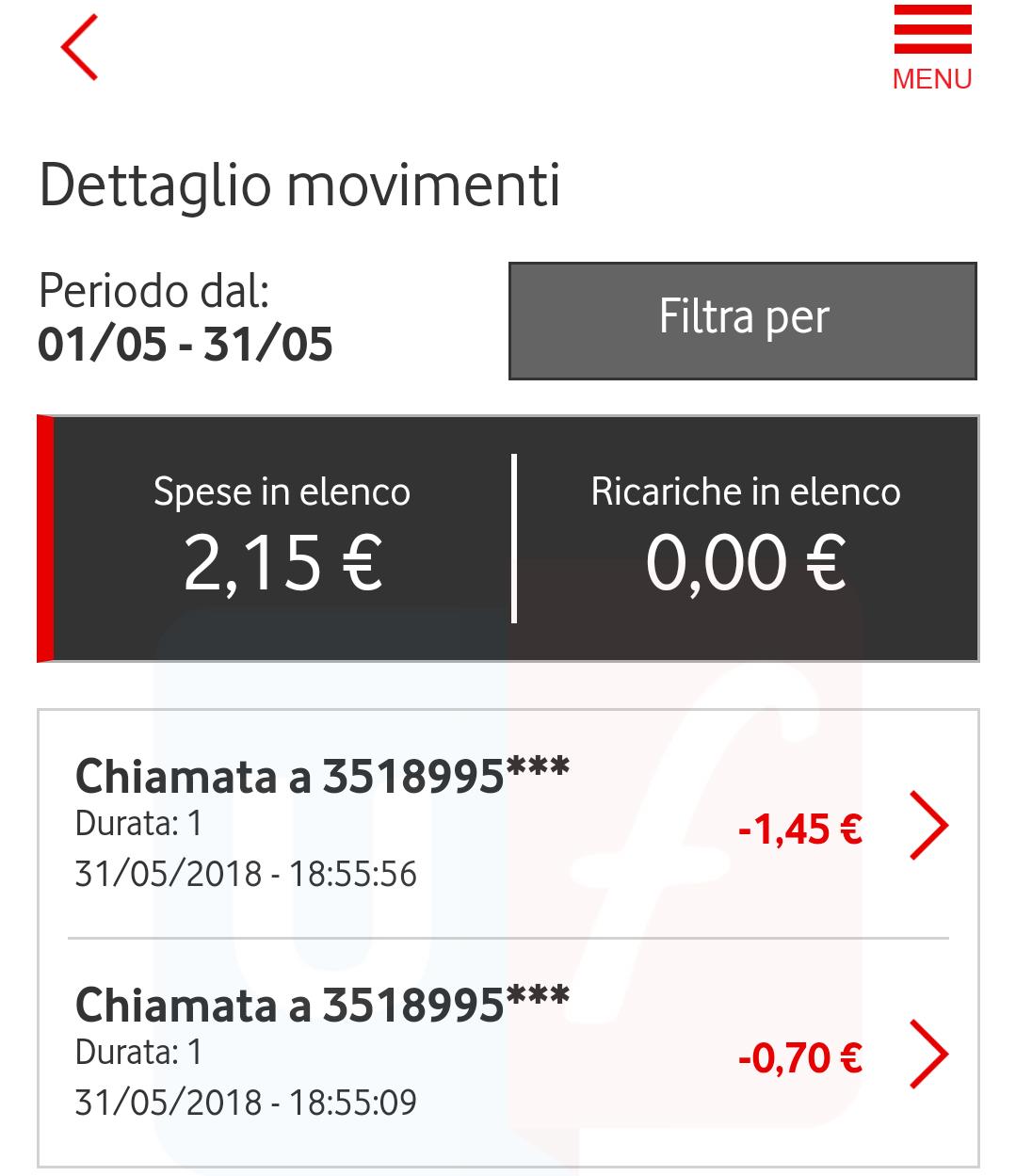 Addebiti Vodafone