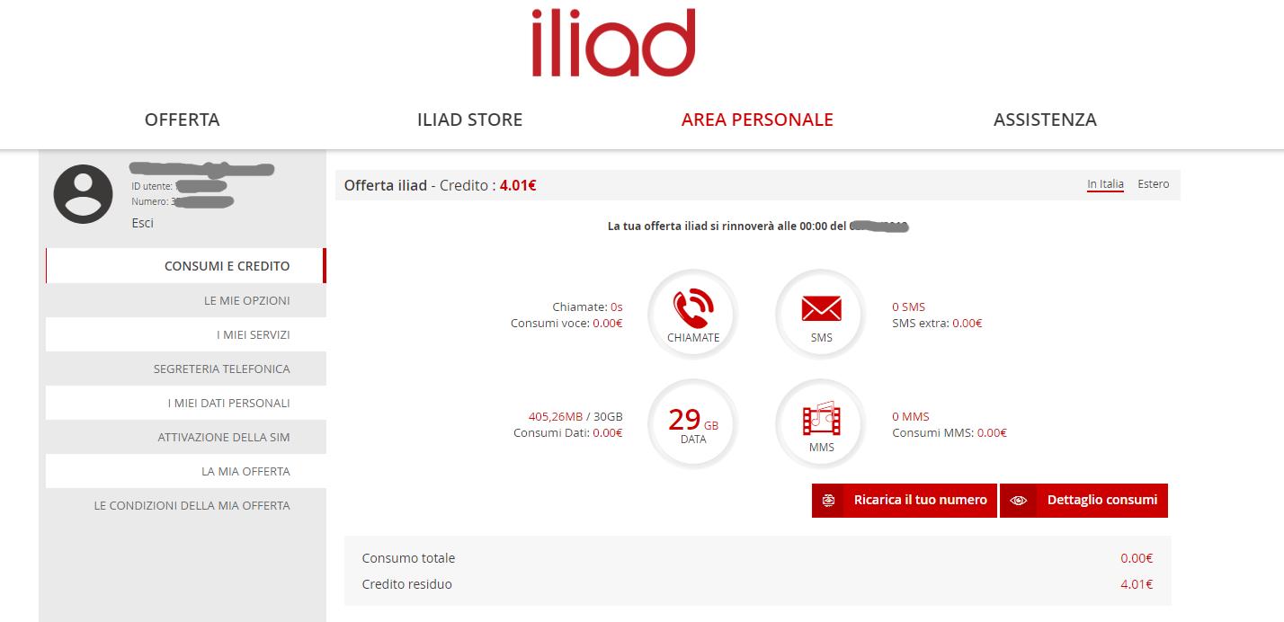 Anomalia contatori Iliad