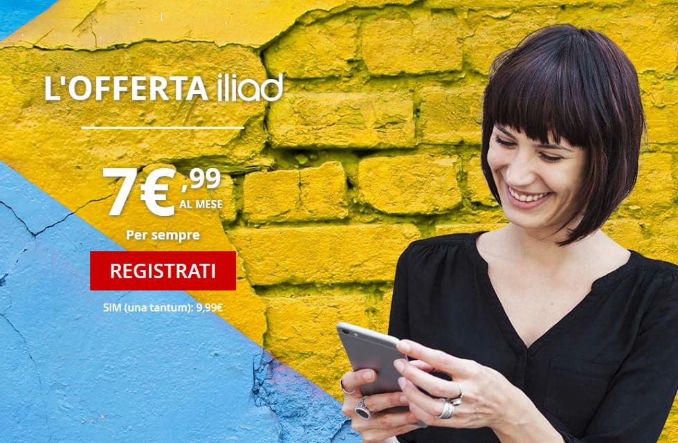 Offerta Iliad 7.99 euro