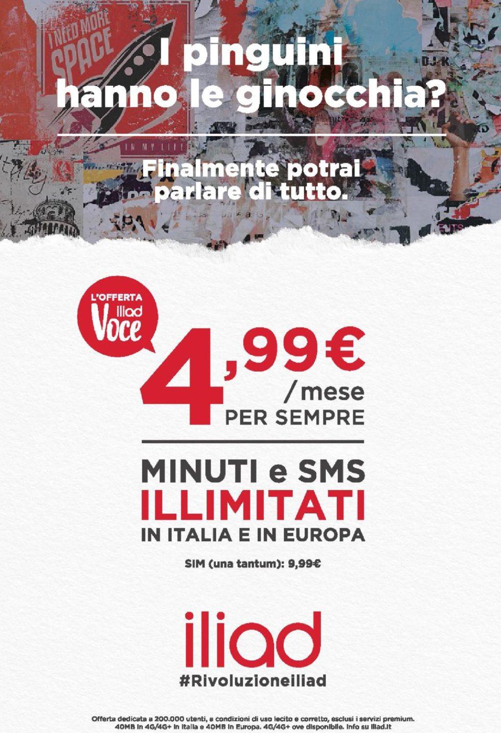 Iliad pubblicità su Corriere