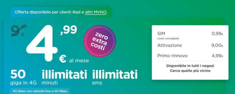 Offerta ho. 4.99 euro