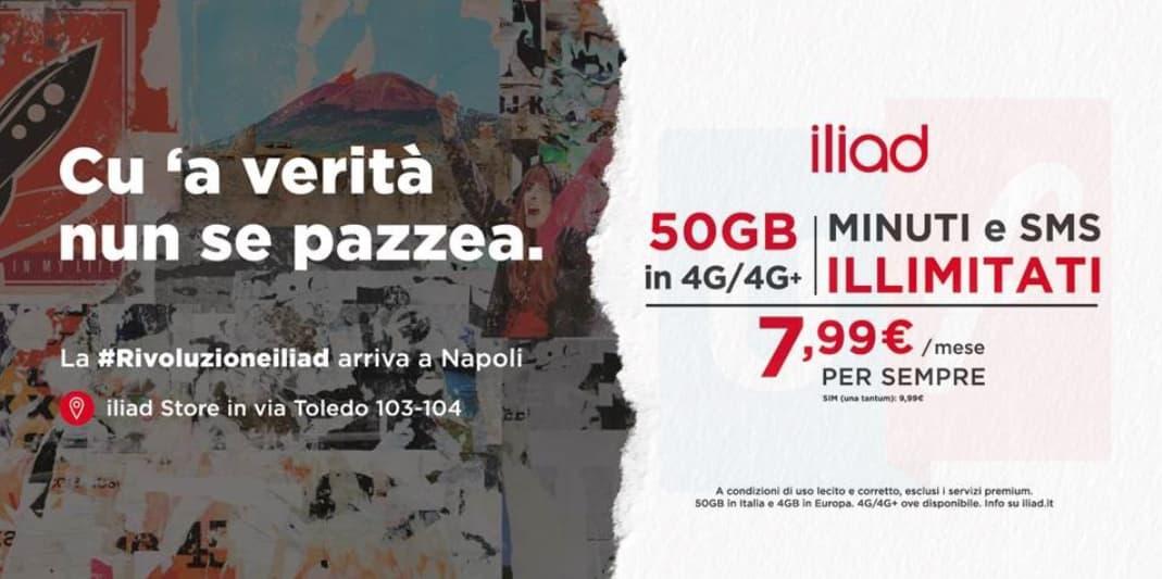 Affissione iliad Napoli