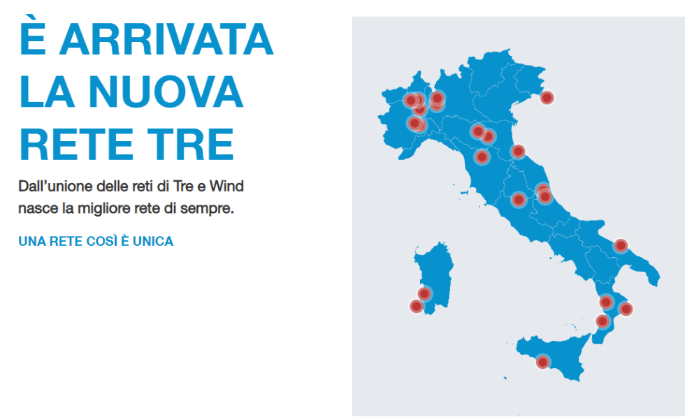 Rete unica Wind Tre
