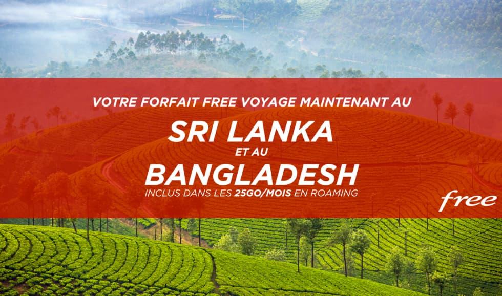 Free Mobile Sri Lanka e Bangladesh