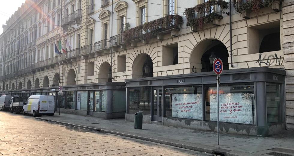 Campagna pubblicitaria iliad Torino