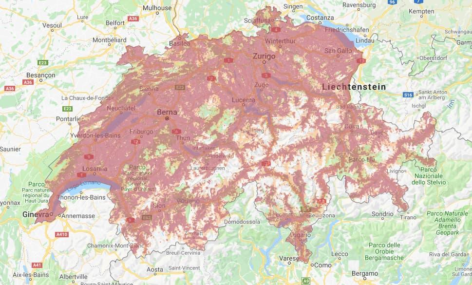 Copertura 4G Salt Svizzera