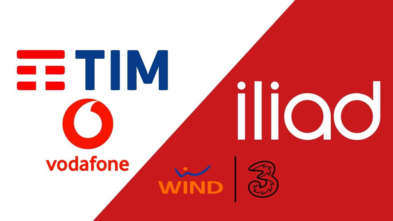 TIM Vodafone iliad Wind Tre