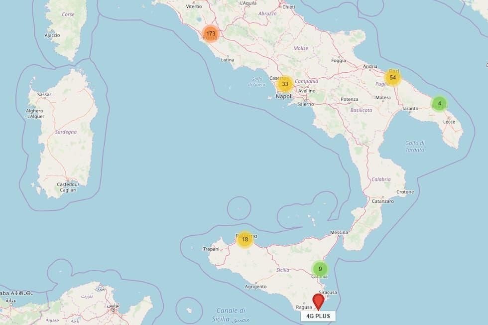 Rete iliad Centro Sud Italia