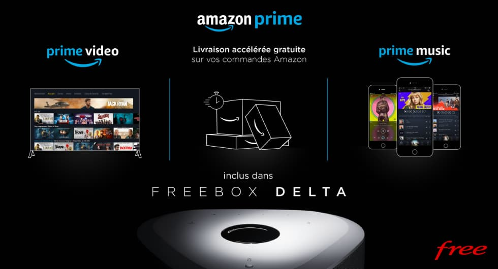 Amazon Prima con Freebox Delta
