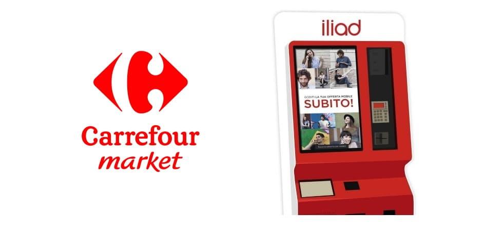 Simbox iliad Carrefour Market