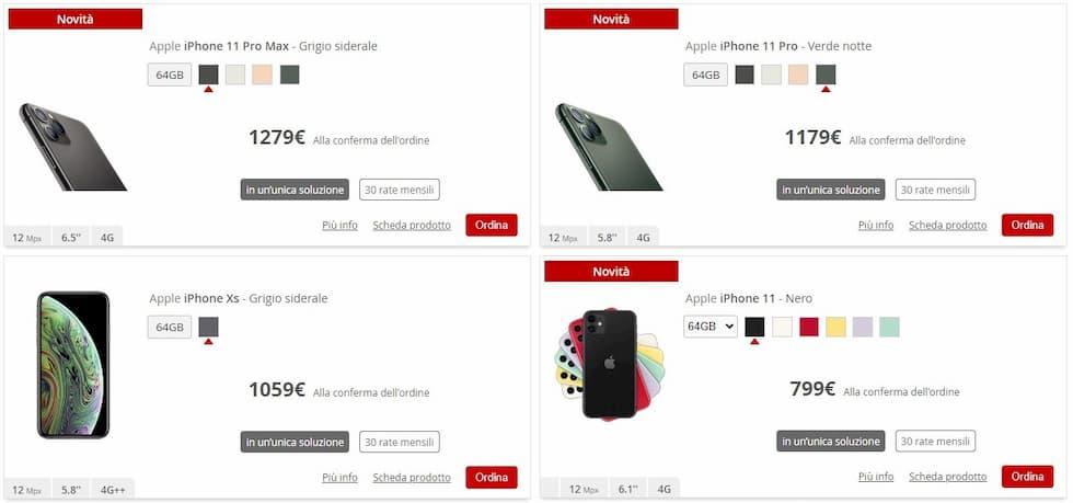 iliad store modelli iPhone