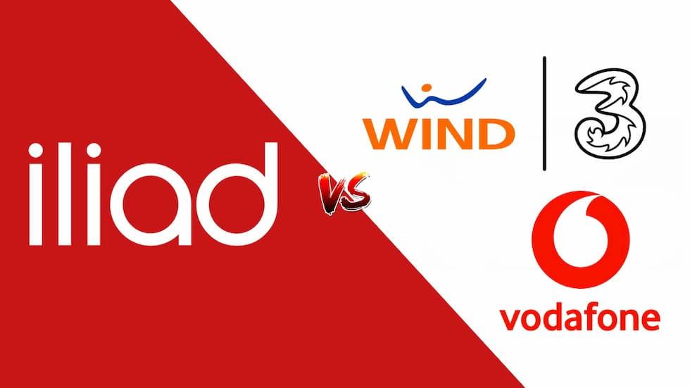 iliad vs Wind Tre Vodafone