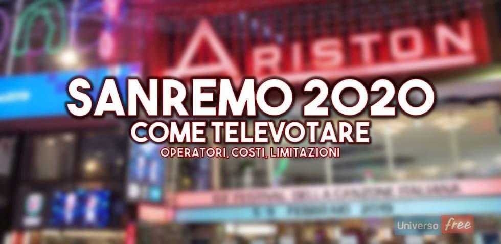 Come televotare a Sanremo 2020