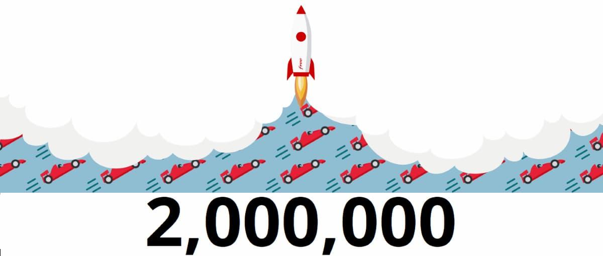 2 milioni Fibra Free