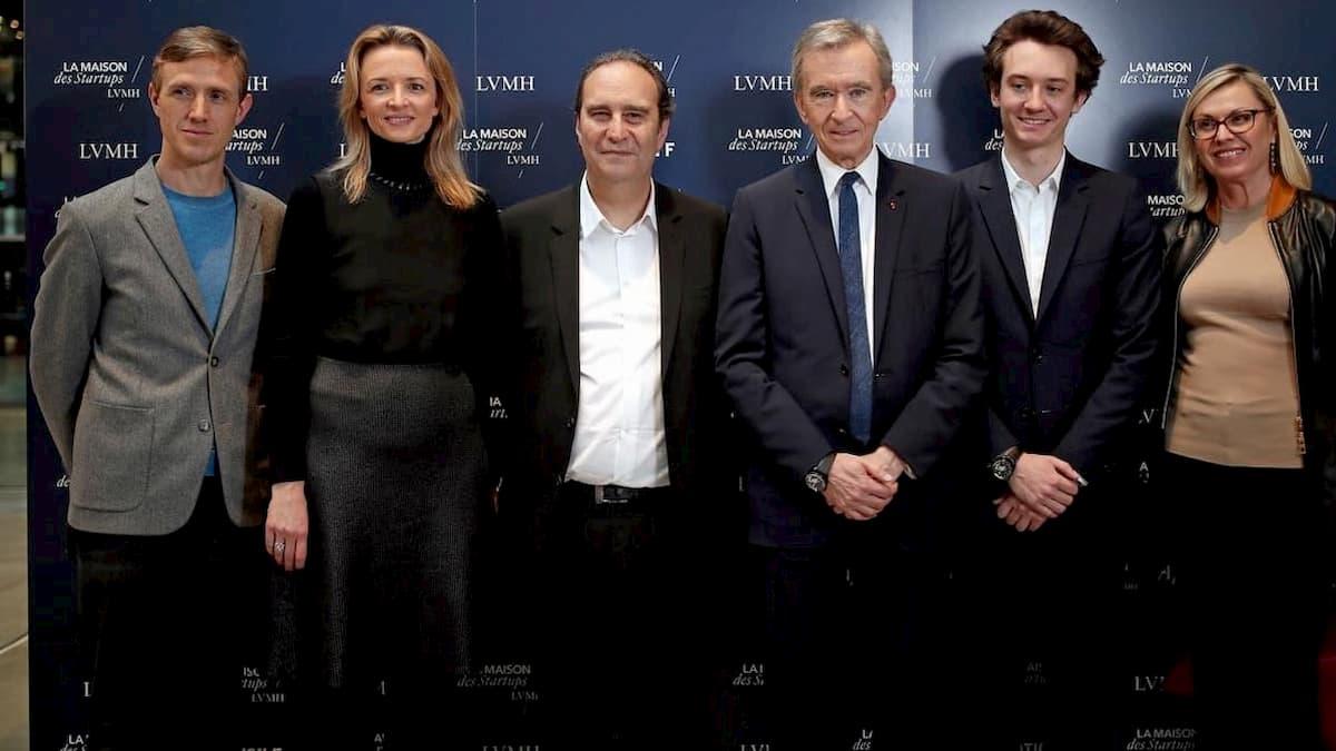 Delphine Arnault Xavier Niel e Bernard Arnault