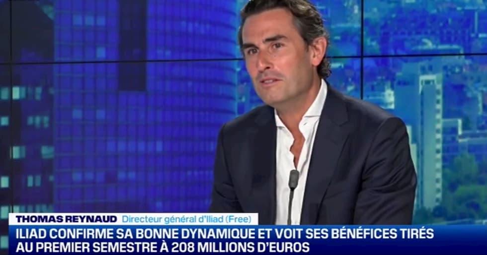 Thomas Reynaud annuncio Freebox in Italia