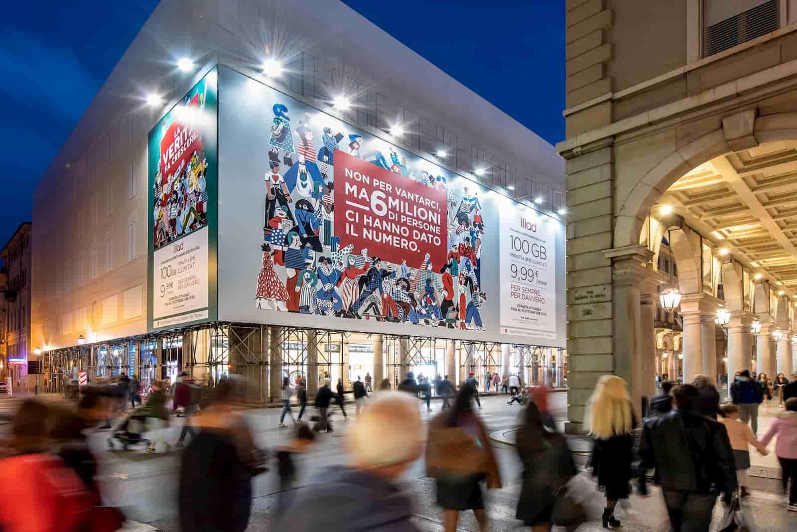 Affissione iliad Torino