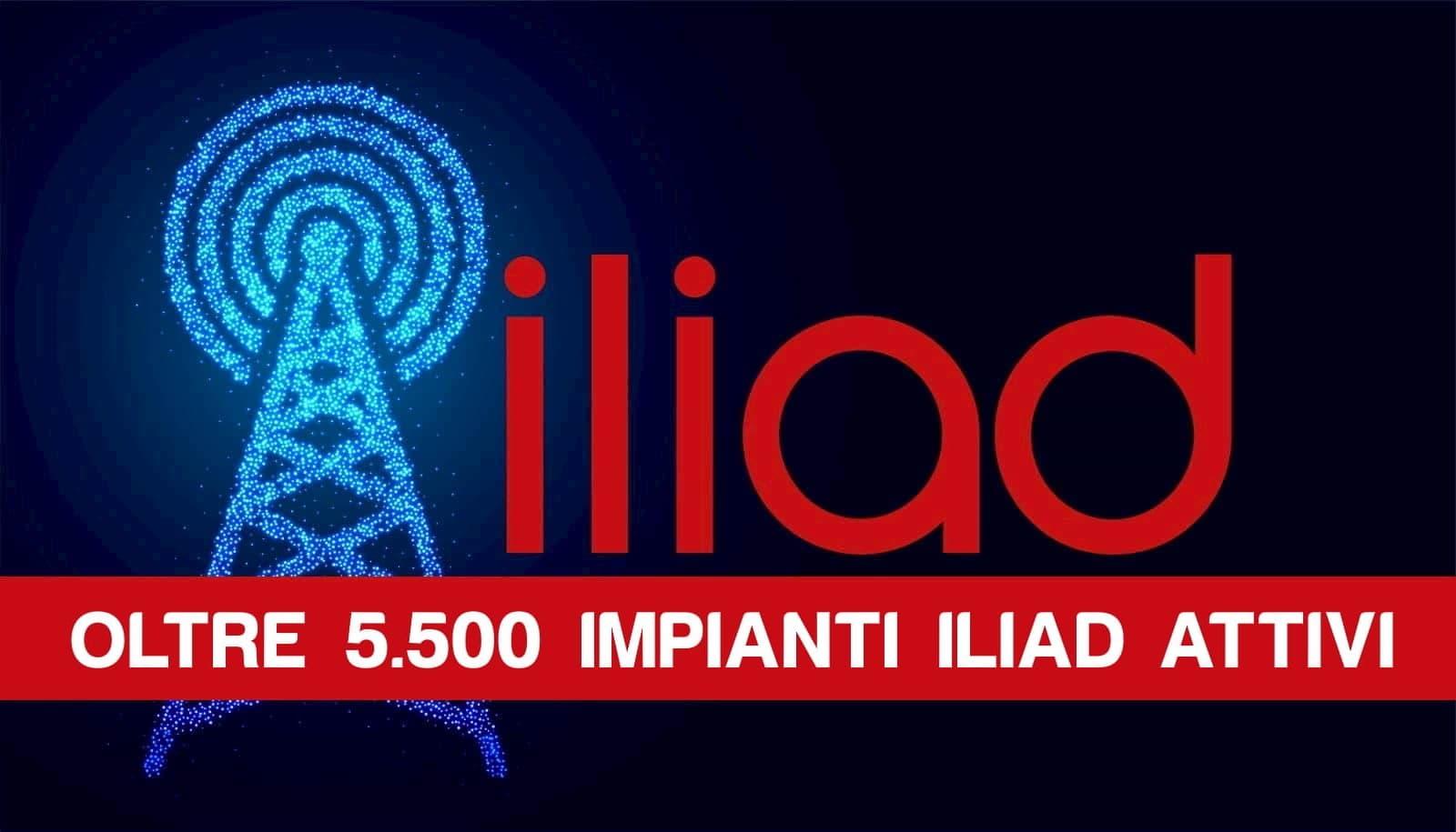 5500 impianti 4G iliad