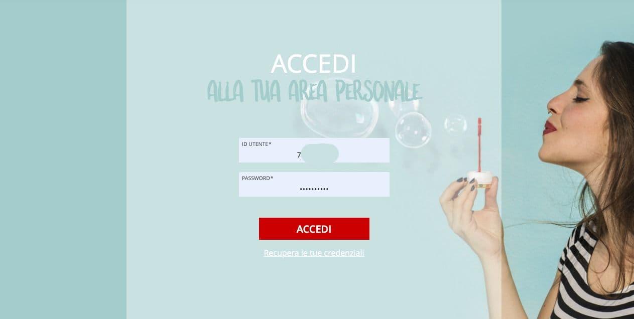 Accesso Area Personale iliad