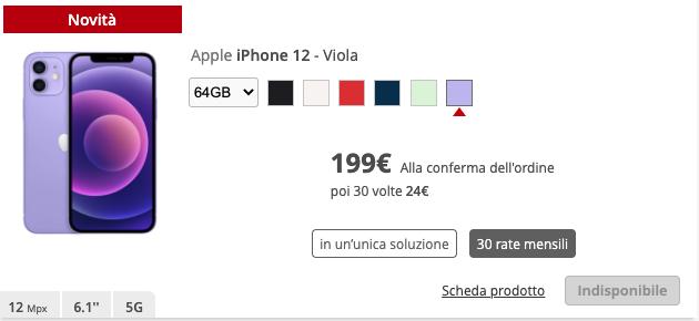 iPhone 12 Viola iliad