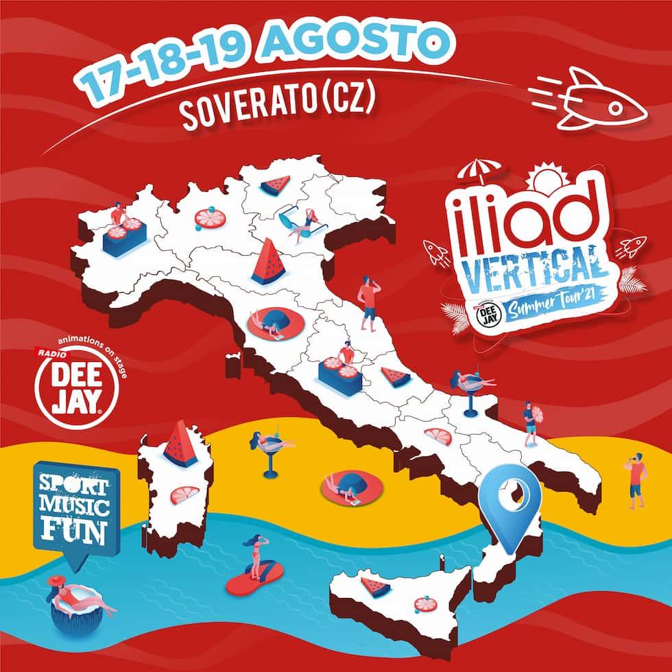 Mappa iliad Vertical Summer Tour 2021